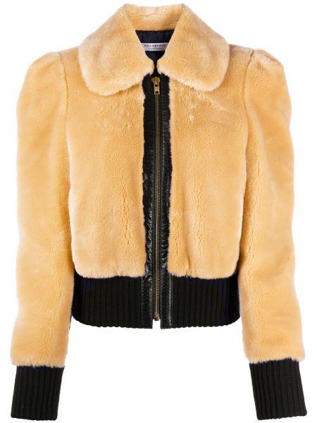 Коричневая куртка на молнии с воротником в рубчик Philosophy Di Lorenzo Serafini