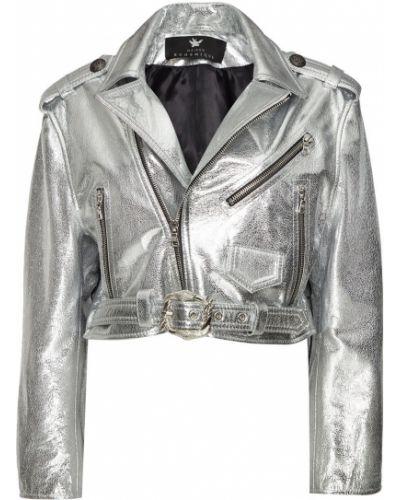 С рукавами кожаная куртка с карманами Maison Bohemique