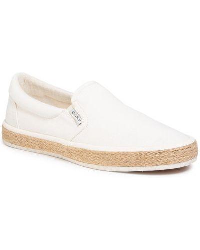 Białe espadryle Gant