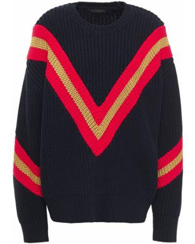 Niebieski sweter w paski bawełniany Rag & Bone