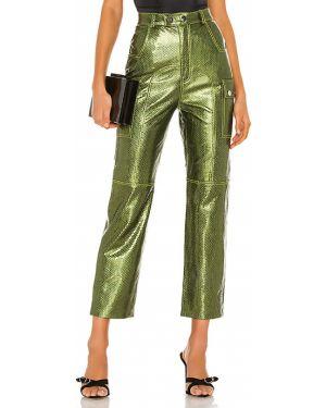 Zielone spodnie skorzane Camila Coelho