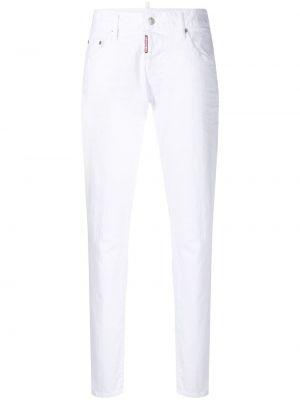 Bawełna niebieski prosto jeansy do kostek rozciągać Dsquared2