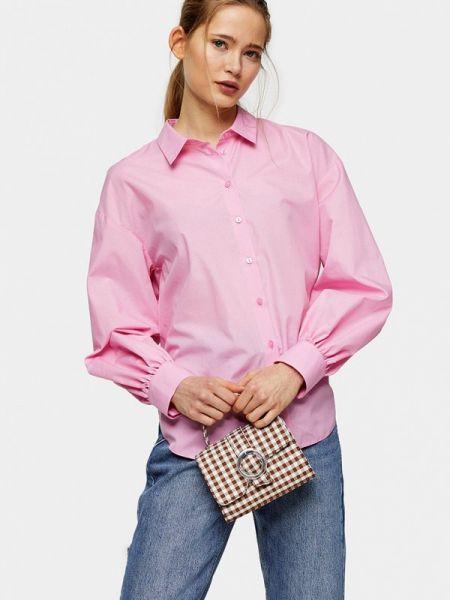 Рубашка с длинным рукавом розовый Topshop