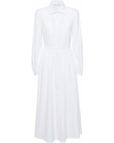 Biała sukienka długa bawełniana Max Mara