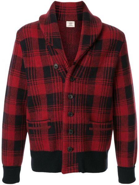 Prążkowana długa kurtka wełniana z długimi rękawami Kent & Curwen