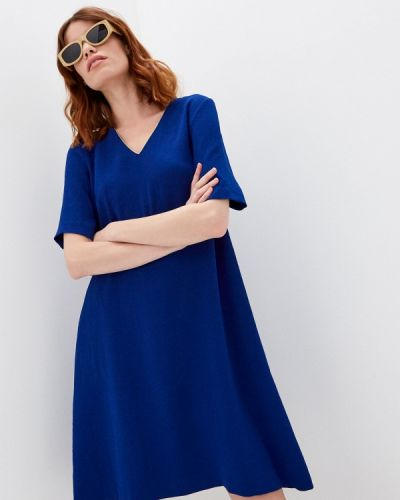 Повседневное синее платье Gerard Darel