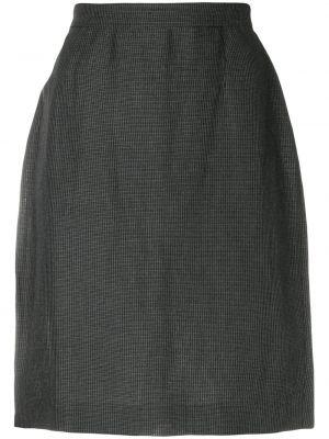Серая юбка карандаш винтажная с рукавом 3/4 Krizia Pre-owned