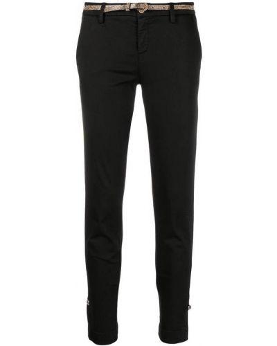 Czarne spodnie rurki bawełniane zapinane na guziki Liu Jo