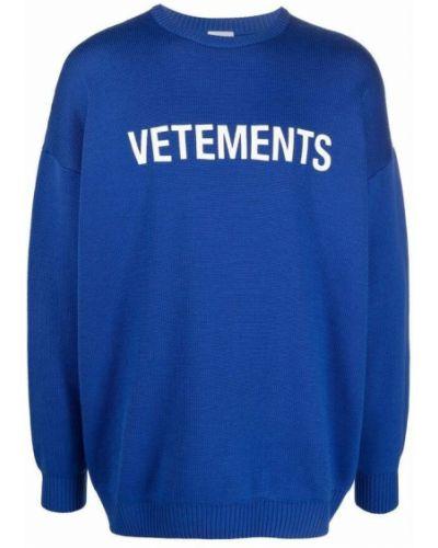 Niebieski sweter Vetements
