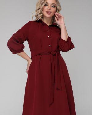 Платье на пуговицах со складками Ellcora
