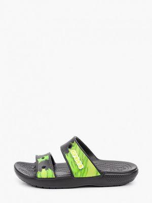 Зеленые пляжные шлепанцы Crocs
