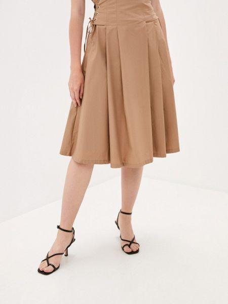 Бежевая юбка свободного кроя B.style