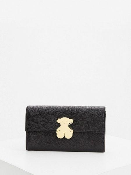 Кожаный кошелек - черный Tous