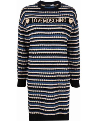 Платье макси с длинными рукавами - черное Love Moschino