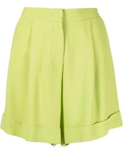 Деловые зеленые с завышенной талией шорты Federica Tosi