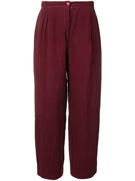 Плиссированные свободные брюки винтажные с поясом Krizia Pre-owned