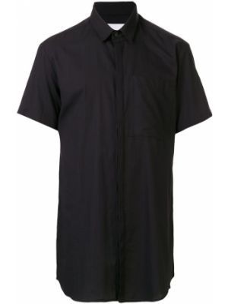 Черная рубашка с короткими рукавами Strateas Carlucci