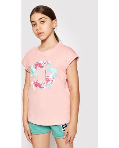 Różowa t-shirt 4f