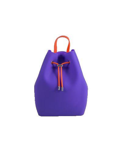 Фиолетовая сумка-рюкзак силиконовая сумка Tinto