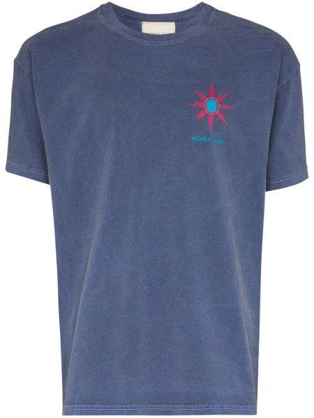 Koszula krótkie z krótkim rękawem prosto z nadrukiem Nicholas Daley