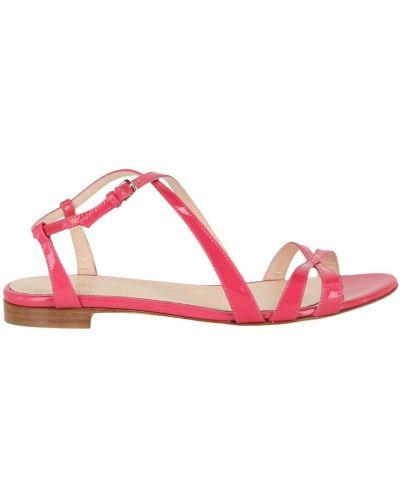 Różowe sandały skórzane Sergio Rossi