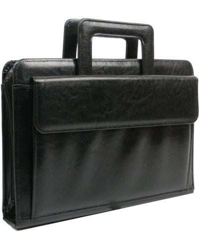 Кожаный портфель - черный Rozetka