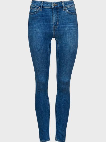 Хлопковые синие джинсы на пуговицах Mih Jeans