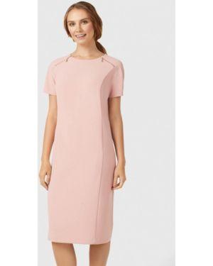 Платье розовое прямое Pompa