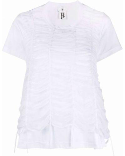 Белый хлопковый топ с оборками Comme Des Garçons Noir Kei Ninomiya