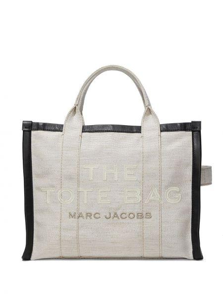 Ватная с ремешком белая нейлоновая сумка-тоут Marc Jacobs