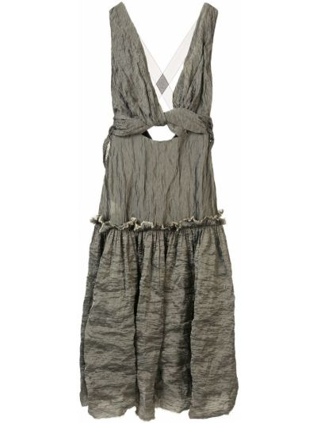 Платье на бретелях с V-образным вырезом Kitx