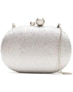 Серебряная сумка с подкладкой со стразами Isla