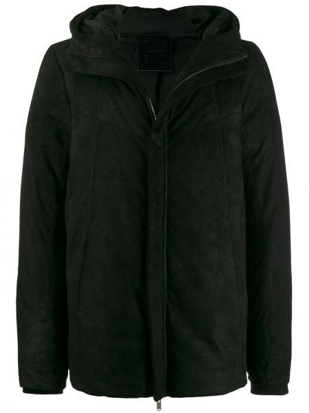 С рукавами черная куртка с капюшоном на молнии с подкладкой 10sei0otto
