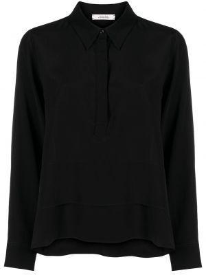 Шелковая черная блузка с длинными рукавами Dorothee Schumacher