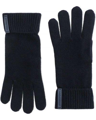 Rękawiczki wełniane - niebieskie Dolce And Gabbana