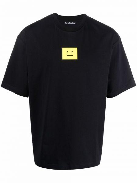 Czarna t-shirt bawełniana Acne Studios