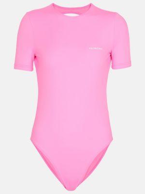 Różowy strój kąpielowy krótki rękaw Balenciaga