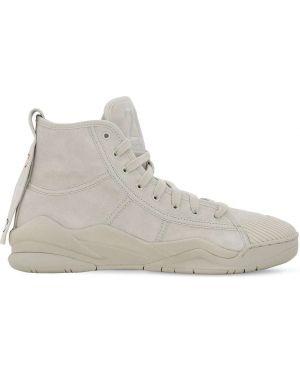 Białe sneakersy sznurowane koronkowe Casbia X Champion