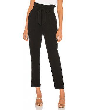 Кашемировые черные брюки с карманами на крючках Cupcakes And Cashmere