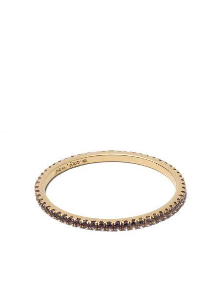 Золотистое желтое кольцо с аметистом Carolina Bucci