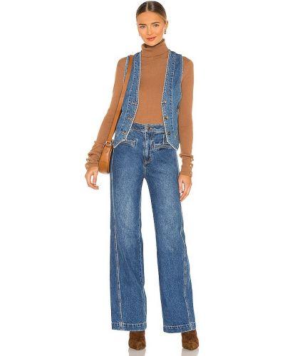 Джинсовый костюм - синий Free People