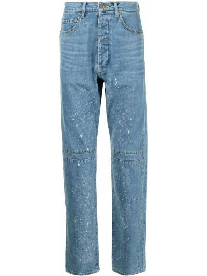 Niebieskie mom jeans z paskiem bawełniane Facetasm