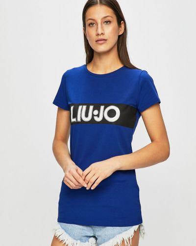 Футболка синий эластичный Liu Jo