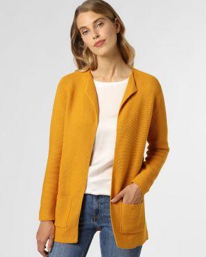 Żółty garnitur elegancki dzianinowy Franco Callegari