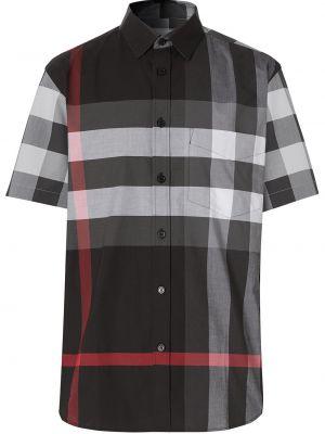 Klasyczny klasyczna koszula z kieszeniami z łatami z kołnierzem Burberry