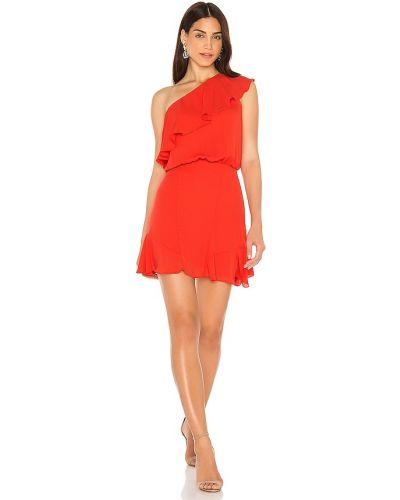 Шифоновое платье на одно плечо с подкладкой Krisa