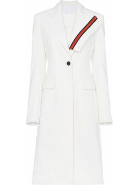 Хлопковое белое пальто с капюшоном Calvin Klein 205w39nyc