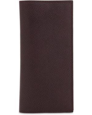 Fioletowy portfel skórzany Pineider