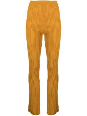 Брюки с завышенной талией - желтые Adam Lippes