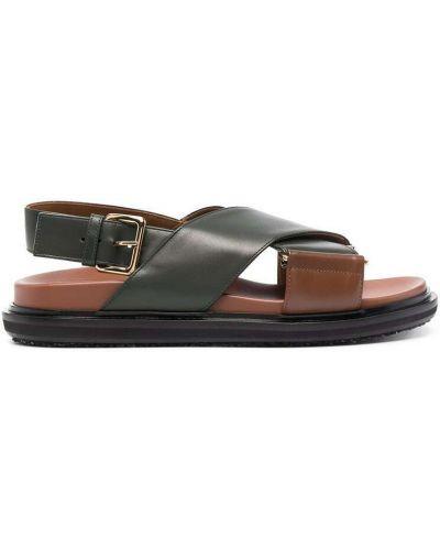 Czarne sandały Marni